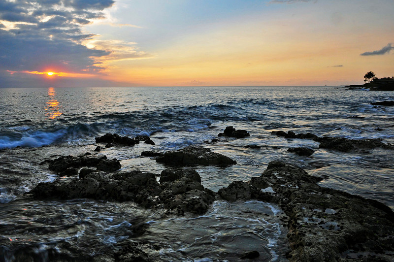 Holualoa Bay, Kona Coast, Big island, Hawaii.