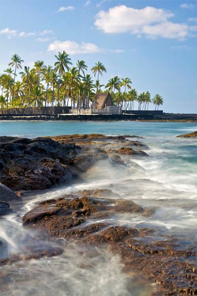 Pu'uhonua O Honaunau, Keoneele Cove, South Kona, Hawaii