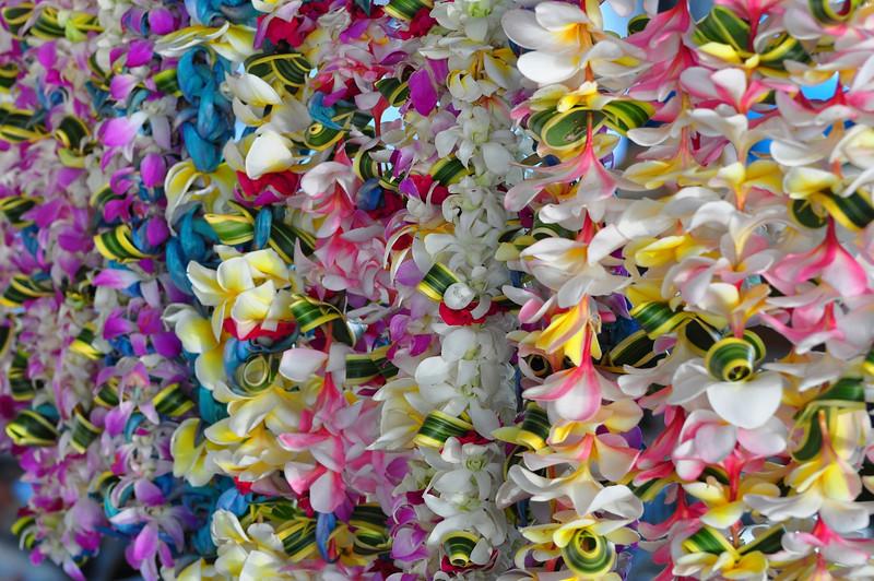 Leis, Farmers Market, Kailua-Kona, Big Island, Hawaii