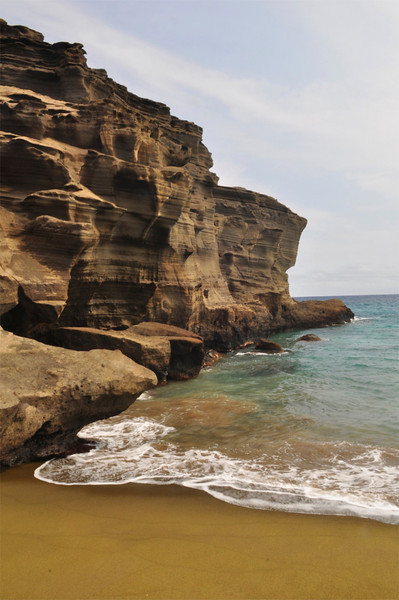 Green Sand Beach, Papakolea Beach, Big Island, Hawaii.