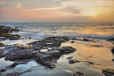 Holualoa Bay, Kona Coast, Big island, Hawaii
