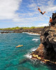 "Cliff Jumper, ""End Of The World"", Kuamo'o Bay, North Kona, Hawaii"