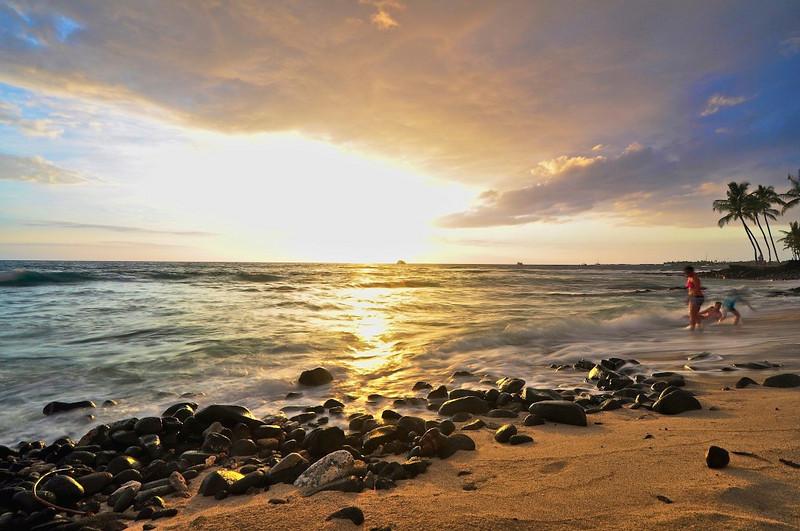 Honl's Beach, Kailua Kona, Big Island, Hawaii