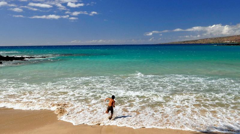 Kauna'oa Beach, Mauna Kea Beach Hotel, South Kohala, Big Island, Hawaii