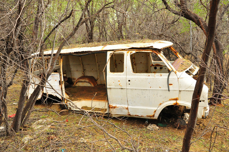 Abandoned Vehicle, South Kohala, Big Island, Hawaii