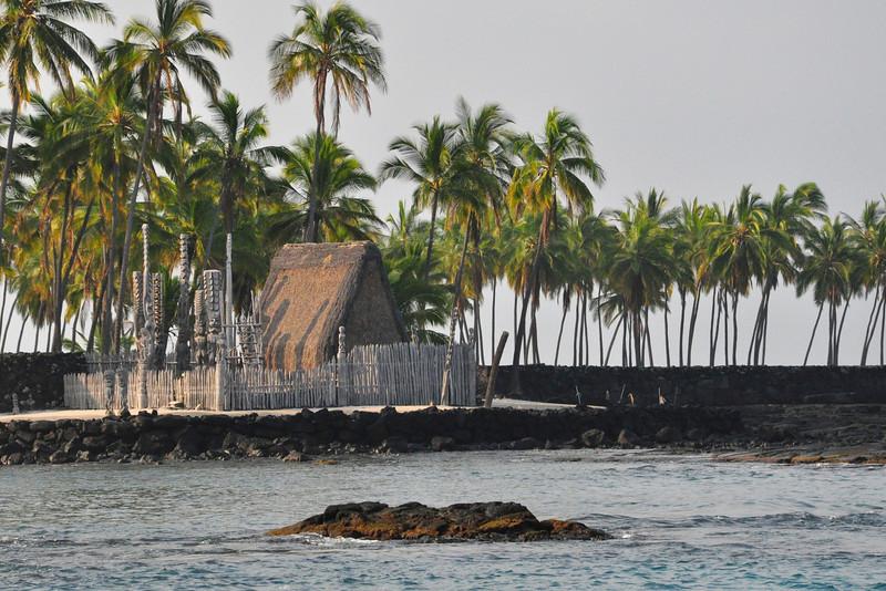 Pu'uhonua o Honaunau, Keoneele Cove, South Kona, Big Island, Hawaii