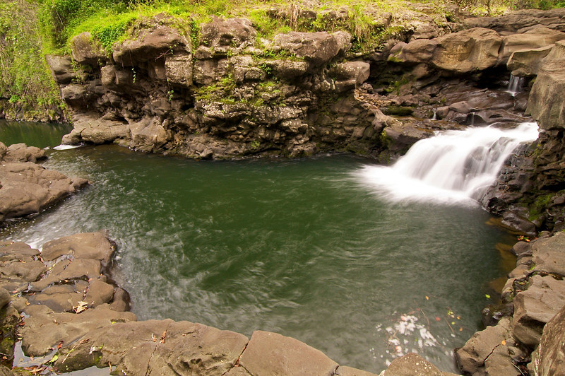 Lower Falls, Umauma stream, North Hilo, Big Island, Hawaii