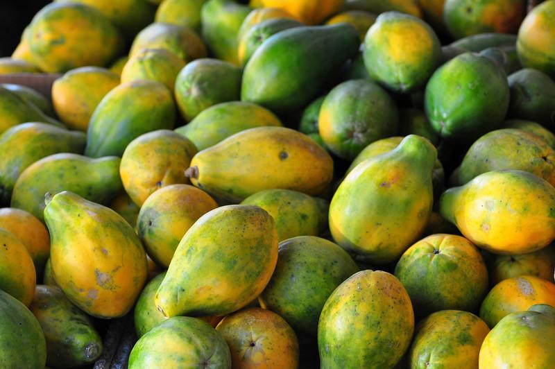 Papaya, Farmers Market, Kailua-Kona, Big Island, Hawaii