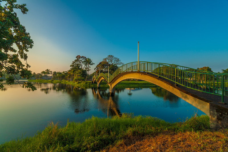 Wailoa State Park Bridge at Sunrise 1.26.14