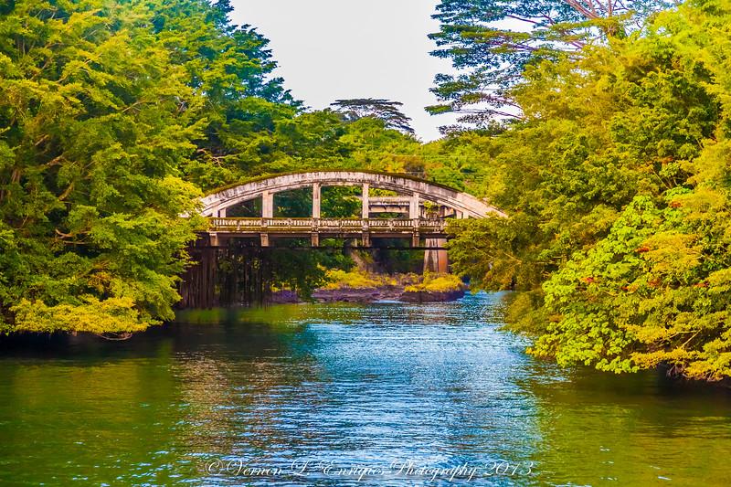 Wailuku Bridge on the Wailuku River Hilo Hawaii 8.4.13