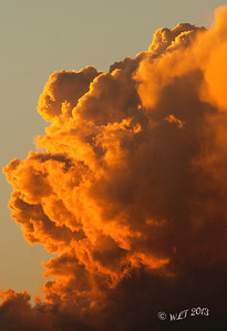 Thunderhead At Sunset