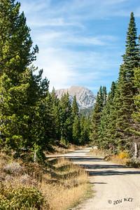 Mountain Road Near Bozeman, Montana