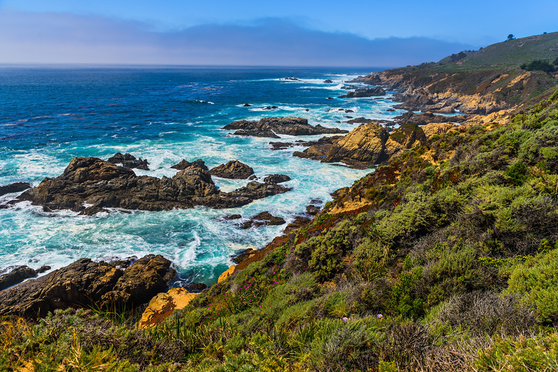 """Northern California Tranquil Coastline near Garrapata State Park and Big Sur"