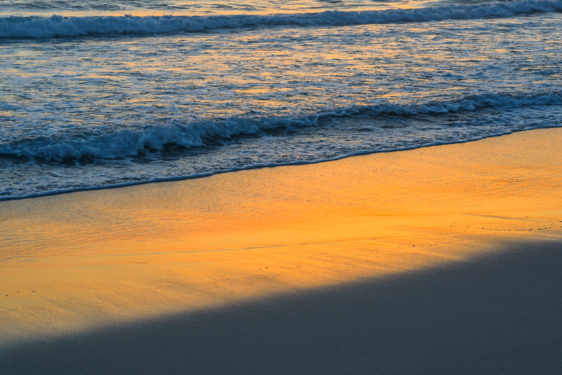 """""""Sunset Colors in The Sand""""  Carmel Beach at Sunset D8X2018"""