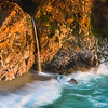 """""""Flowing into the Ocean"""" McWay Falls at Sunset, Big Sur, California D818897"""