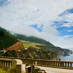 Bixby Bridge and Northern California Coastline.  Between Big Sur and Carmel, the Bixby Bridge is a local landmark.