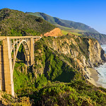 """Bixby Bridge Along the Northern California Coast near Big Sur"""