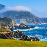 Natural Bridge and Bixby Bridge along the Northern California Coastline