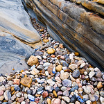 """Entrance to the Stones in Concert""   Rock Textures and Abstract from Point Lobos.  Matched with the ""Sea of Pebbles"" Print from the series."