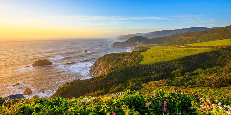 Along the Northern California Coast Panorama 1:2 Ratio