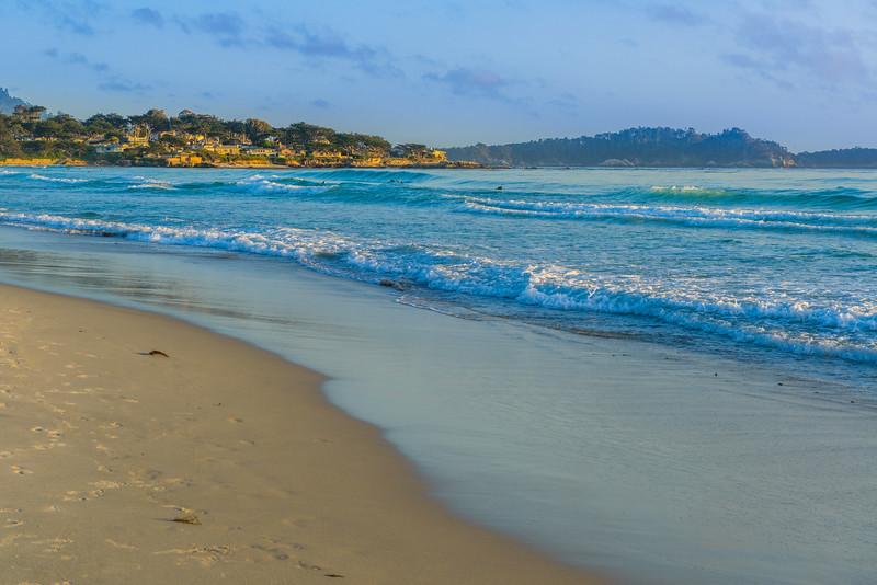 """Carmel-by-the-Sea at Sunset"" near Monterey, California"