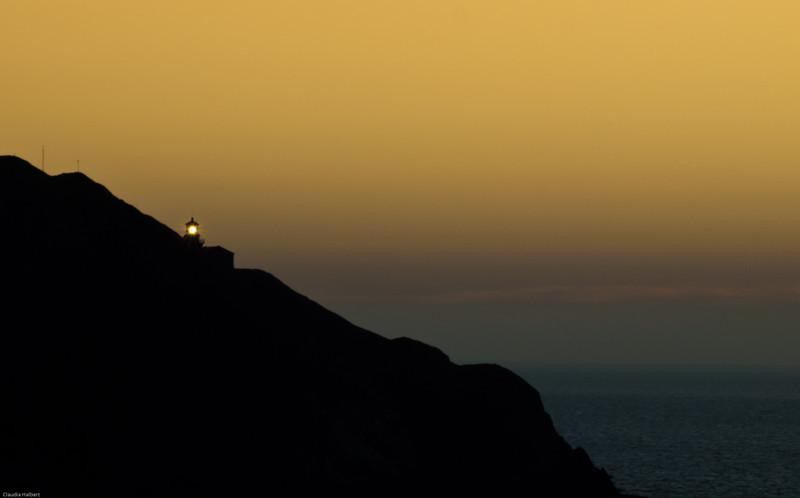 Sunset at Big Sur lighthouse