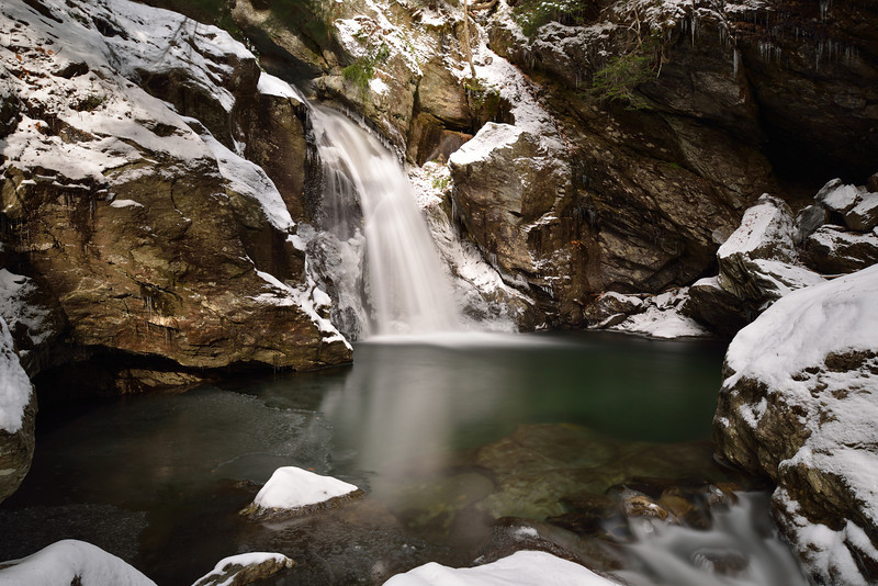 Bingham Falls in Stowe, Vermont