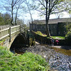April 2009.  Beckfoot Bridge and ford, Bingley, West Yorkshire.