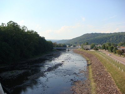 Looking downstream along the Casselman toward Confluence.