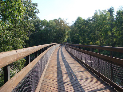 Trail bridge over Casselman River just past Harnedsville.