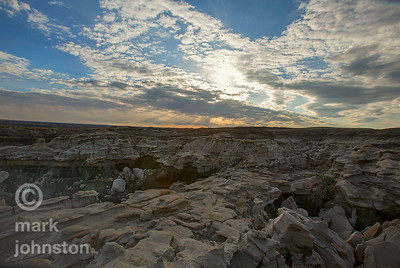 Surreal rock formations in New Mexico's Bisti De Na Zin Wilderness
