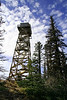 Fire lookout atop Black Butte