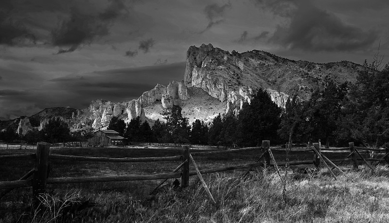 Oregen, Smith Rock State Park, Sunset, Black and White, Landscape, 俄勒冈, 夕阳 风景,黑白摄影
