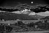 Colorado, Crested Butte, Ohio Creek, Moonset