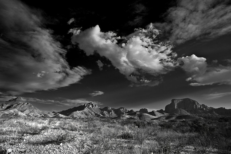 Texas, Big Bend National Park, Texas, Chisos Mountains,  Black and White, Landscape, 德克萨斯, 大弯曲国家公园,风景, 黑白摄影