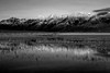 Canada, Yukon, Alaska Highway, Kluane Lake, Sunrise, Reflection, Destruction Bay , Black & White,  加拿大, 育空, 阿拉斯加高速公路