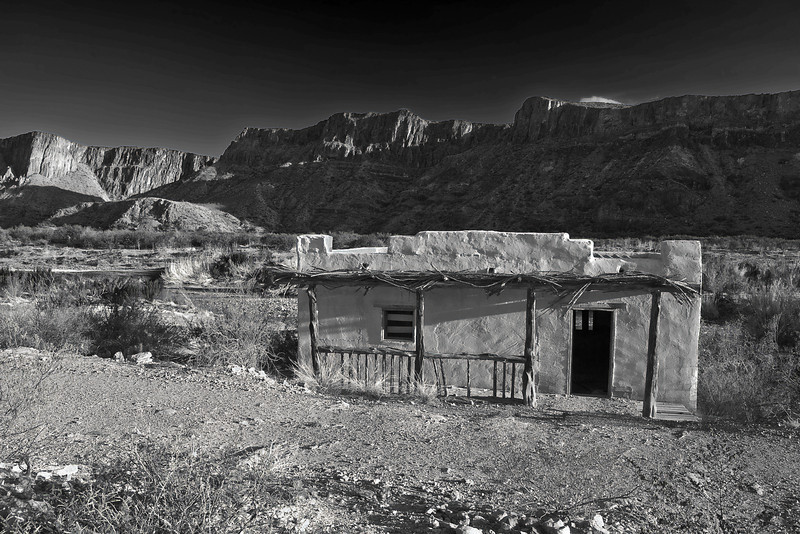 Texas, El Camino del Rio, Big Bend Ranch State Park,Ruins, Black and White, Landscape, 德克萨斯, 大弯曲公园,黄昏,黑白摄影, 风景