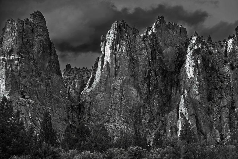 Oregen, Smith Rock State Park, Sunset, Black and White, Landscape, 俄勒冈, 夕阳 风景,黑白摄影