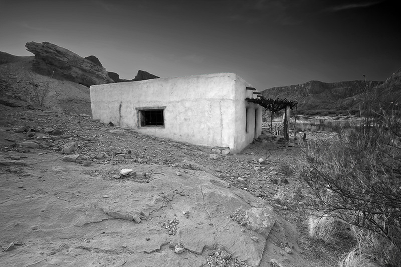 Texas, El Camino del Rio, Big Bend Ranch State Park,Ruins, Black and White, Landscape, 德克萨斯, 大弯曲公园,黎明,黑白摄影, 风景