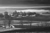 Pennsylvania, Kishacoquillas Valley, Spring morning, Fog, Smoky Landscape, 宾夕法尼亚 田园, 风景, 黑白摄影
