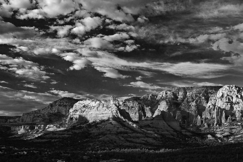 Arizona, Red Rock Country, Sedona Black White Landscape Art 亚利桑那, 红岩 黑白摄影, 风景