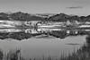 Canadian Rockies, Waterton Lake National Park, Sunrise. Landscape, Reflection, Black-White, 加拿大, 洛矶山脉, 沃特顿国家公园, 黑白摄影, 风景