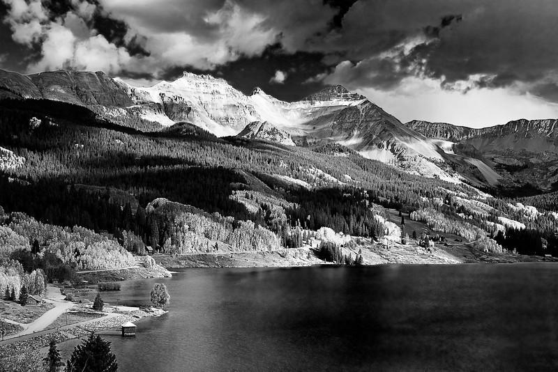 Colorado, Rocky Mountains, San Juan Mountain, Trout Lake,Black White, Landscape, 科罗拉多 洛矶山 秋色,  黑白摄影, 风景