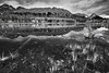 Canadian Rockies, Kananaskis Country, Peter Lougheed Provincial Park, Sunset, Reflection, Landscape, HDR, Black & White,  加拿大, 洛矶山脉, 风景