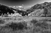 Colorado, Rocky, Mountains, Castle, Peak, Fall, Foliage, Sunset, Black and White, Landscape, 科罗拉多 洛矶山 秋色, 风景, 黑白摄影
