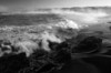 California, Northern Coastline, MacKerricher State Park, Sunrise Black White Landscape Art 加利福尼亚 海滩 黑白摄影, 风景