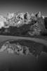 Arizona, Superstiton Wilderness, Reflection Black White Landscape Art 亚利桑那, 沙漠 黑白摄影, 风景