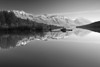 Alaska, Bear Lake, Chugach National Forest, Seward, Reflection Black White Landscape Art,  阿拉斯加 黑白摄影, 风景
