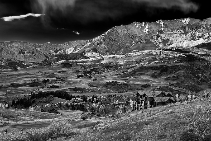 Colorado, Rocky, Telluride, San Juan Mountain, Fall Colors, Foliage, Landscape, Black White, 科罗拉多 洛矶山 秋色, 黑白摄影, 风景