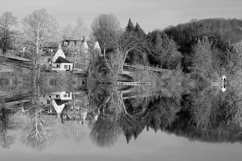 Pennsylvania, Shawnee State Park, Winter, 宾夕法尼亚 田园, 风景, 黑白摄影